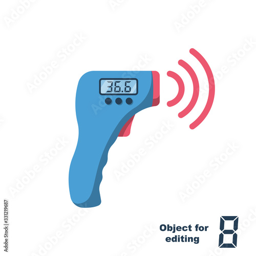 Obraz na plátně Digital non-contact infrared thermometer