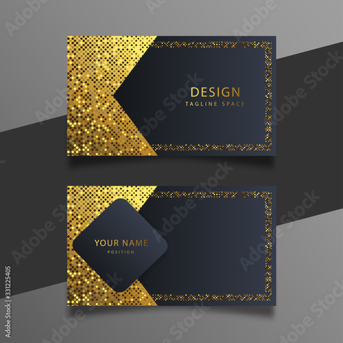Foto Elegant minimal black and gold business card template.