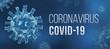 Leinwanddruck Bild - Coronavirus COVID-19