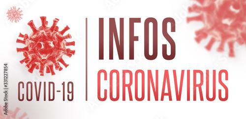 Fotografia Infos Coronavirus COVID-19