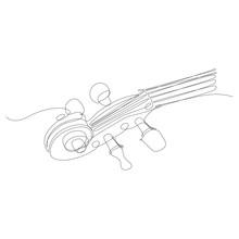 Particolare Di Violino Disegnato In Una Singola Linea Continua