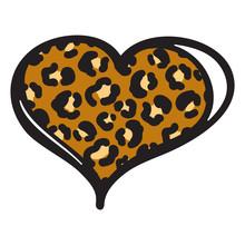 Cheetah Heart Print Vector Obj...