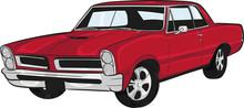Cartoon Car, Muscle Car,classi...