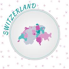 Switzerland Map Design. Map Of...