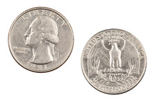 American Quarter Isolated On White Background