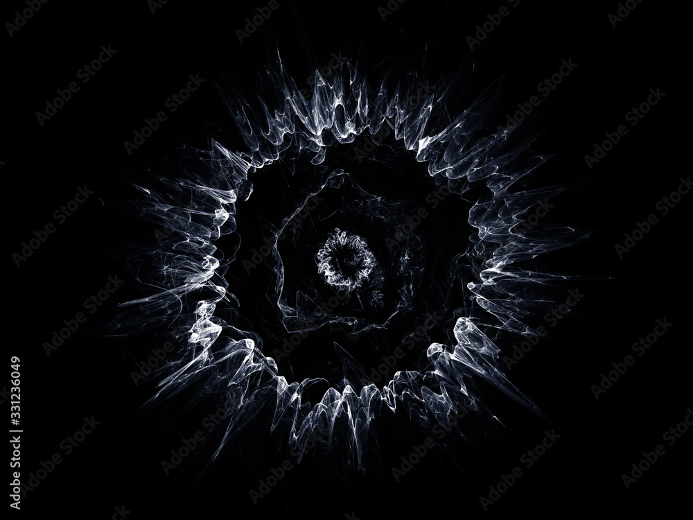 surreal futuristic digital 3d design art abstract background fractal illustration for meditation and decoration wallpaper <span>plik: #331236049 | autor: klickit24</span>
