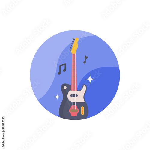 Fotografija Guitar Vector Icon Filled Outline Illustration.