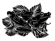 Frogs Silhouettes Collection V...