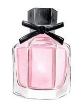 Watercolor Hand Drawn Pink Per...