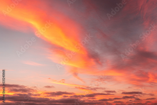 Beautiful twilight sky during sunset background