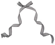 Black Check Ribbon Curl Isolat...