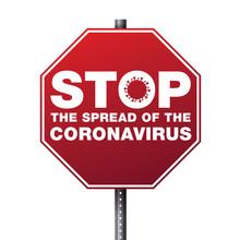 Stop The Spread Of Coronavirus Illustration
