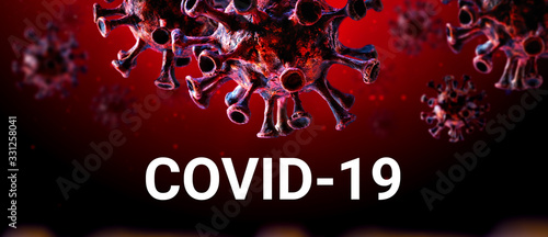 COVID-19 infectious disease caused by severe acute respiratory syndrome coronavi Canvas Print