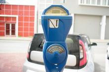 Blue Vintage Parking Meter Wit...