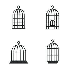 Bird Cage Icon Template Color ...