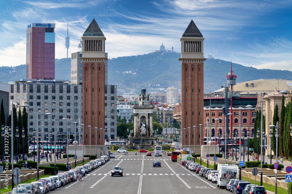 Barcelona cityscape and skyline
