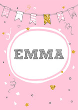 Emma Name Vector Card