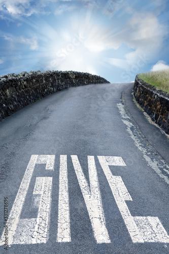 Obraz Word give on roadway - fototapety do salonu