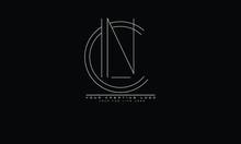 CN NC Abstract Vector Logo Monogram Template