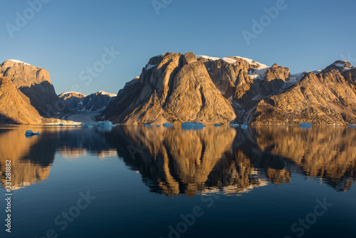 Beautiful landscape with iceberg in Greenland at summer time Canvas Print