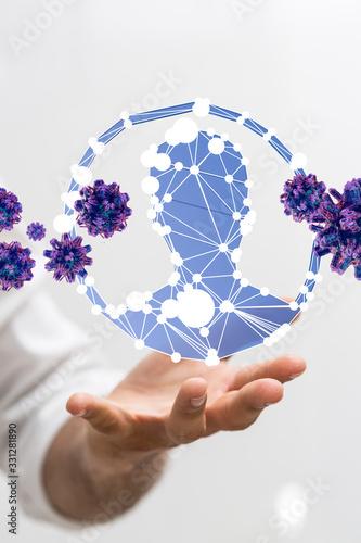 epidemic corona virus 2019-nCoV 3d digital.. - 331281890