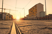 Empty Street In Milan (Italy) ...