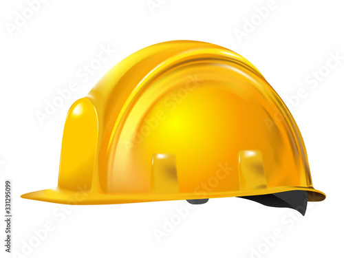 Yellow or gold Realistic working hard hat, construction helmet isolated on white background Tapéta, Fotótapéta