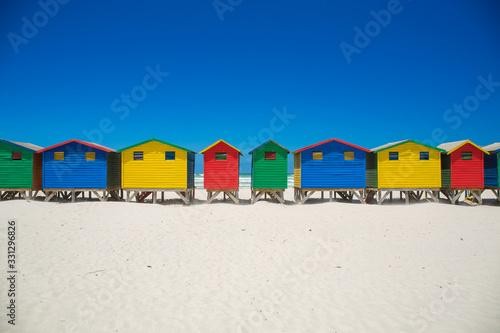 Muizenberg Beach houses Tableau sur Toile