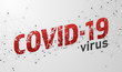 COVID-19 virus spreading. design with text element. vector Illustration