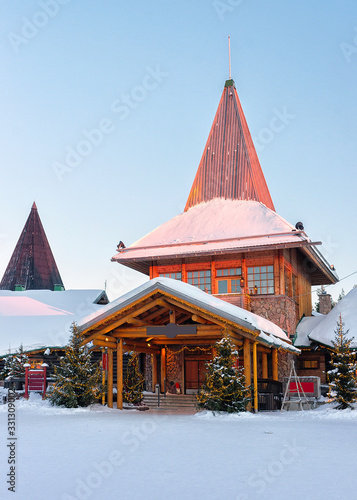 Cuadros en Lienzo Christmas trees in Santa Office in Santa Village Rovaniemi Lapland