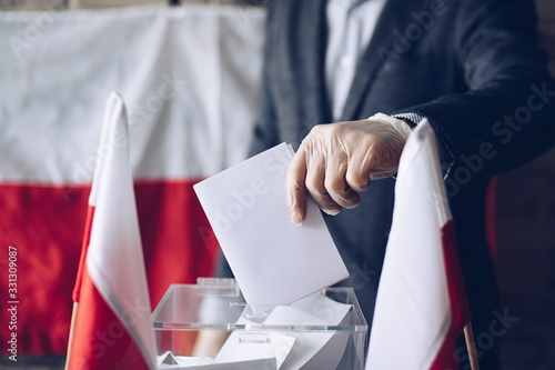 President election in Poland during coronavirus covid-19 pandemic