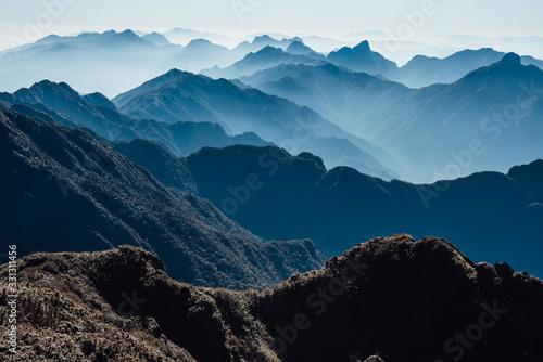 Fansipan mountain in Sapa, Vietnam Fototapete