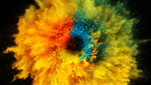 Coloured Powder Explosion On B...