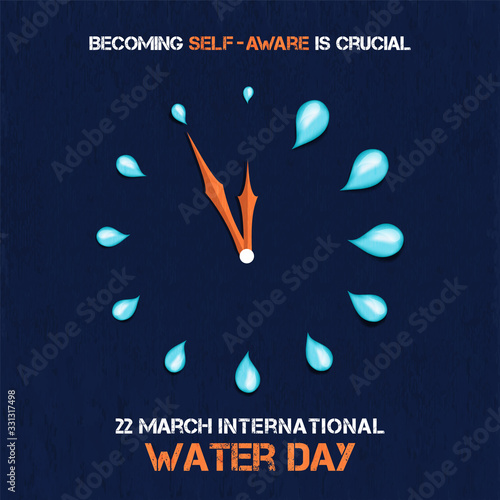Obraz World water day awareness time campaign card - fototapety do salonu