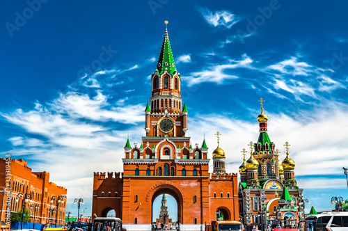 Photo Blagoveshchenskaya Tower and Annunciation Cathedral in Yoshkar-Ola, Russia