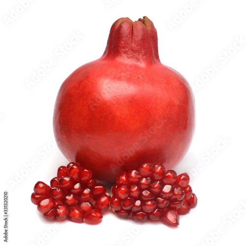 Obraz na plátně Pomegranate fruit isolated on a white background