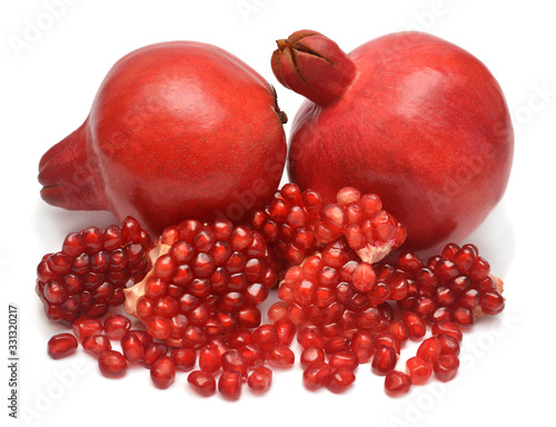 Fotografie, Obraz Pomegranate fruit isolated on a white background