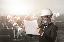 Engineer Worker Wearing Gas Pr...
