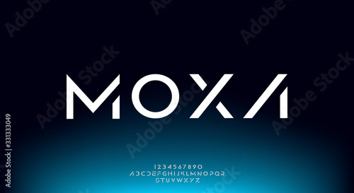 Moxa, an Abstract technology futuristic alphabet font Tapéta, Fotótapéta