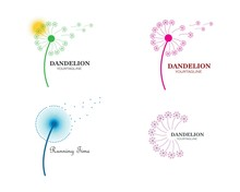 Dandelion Flower Logo Icon