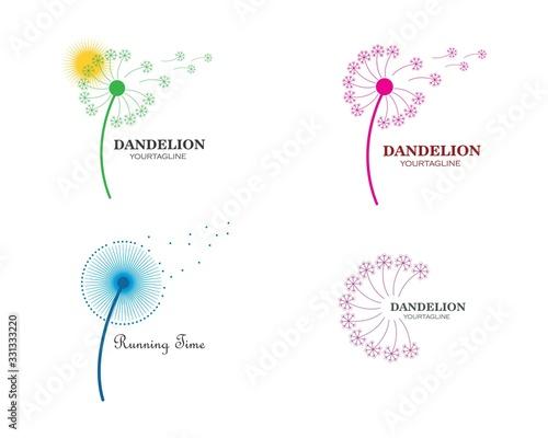 Fototapeta dandelion flower logo icon obraz