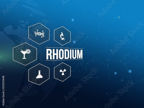 Fototapeta Rhodium