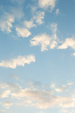 Fototapeta Na sufit - blue sky with clouds , Morning Clouds are constantly changing