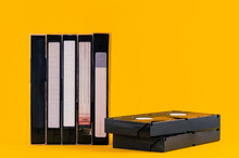 Old VHS Video Tapes Isolated O...
