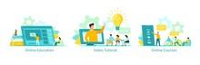 Online Education Vector Illust...