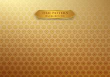 Thai Vintage Pattern Traditional Background