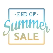 End Of Summer Sale Word Concep...