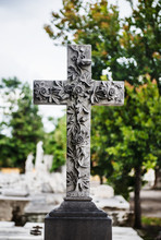 Cross In Cemetery, Havana, Cub...
