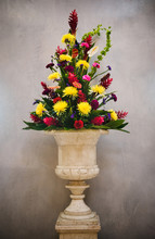 Large Bouquet Of Flowers In A ...