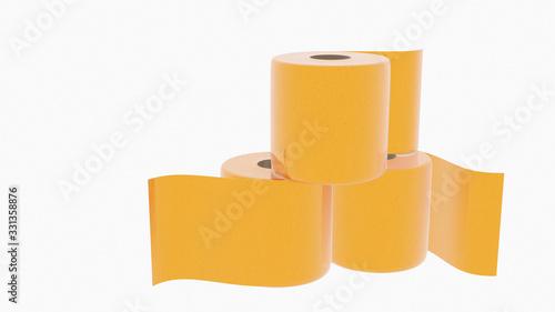 Cuadros en Lienzo gold toilet paper